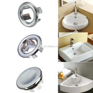 Artistic Sink Round Overflow Cover Tidy Chrome Trim Bathroom Ceramic Basin Spare-1